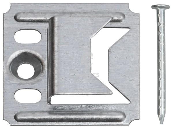 KIESUNDCO Profilholzkrallen mit Nägel 2 mm Stahl verzinkt 250 Stück