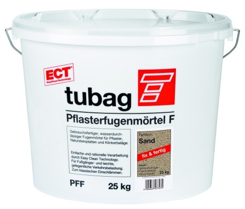 Tubag Pflasterfugenmoertel PFF sand 25kg fuer ueberwiegende Fussgaengerbelastung