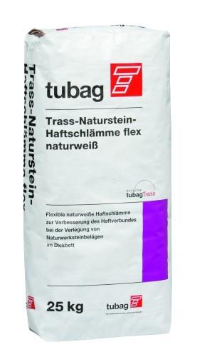 Tubag TNH-flex Trass-Naturstein-Haftschlämme naturweiß 25 kg