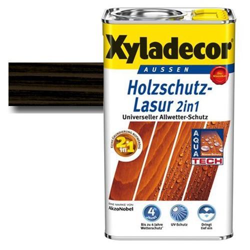 Xyladecor® Holzschutz-Lasur 2 in 1 Ebenholz 0,75 l