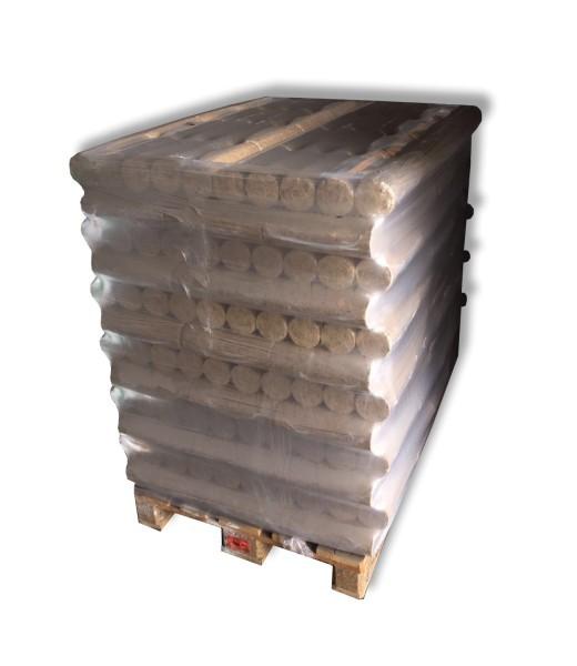 1 Palette 96 Pack Holzbriketts rund ohne Loch á 10kg Brennholz Briketts